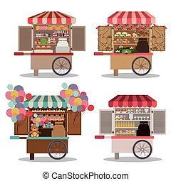 Stores design over white background,vector illustration