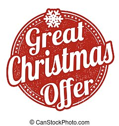 Great Christmas offer stamp - Great Christmas offer grunge...
