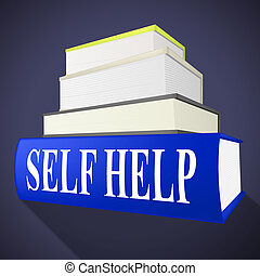 Self Help Book Represents Info Information And Counselling -...