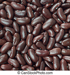 Black turtle beans texture background or pattern. Raw food....