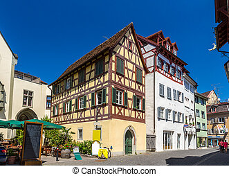 Fachwerk houses in the city center of Konstanz, Germany