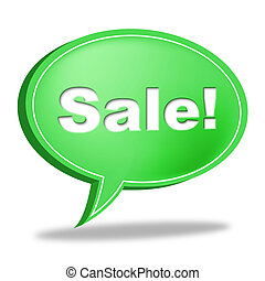 Sale Message Represents Correspond Merchandise And Discounts...