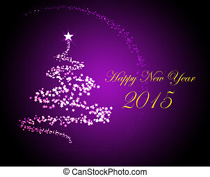 Silvester greeting card 2015 - Holiday greeting card for New...