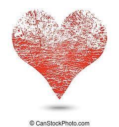 Heart Grunge - Grunge heart valentine background. EPS10...