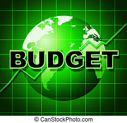 Budget Graph Means Costing Expenditure And Statistic -...