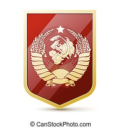 union, manteau, soviétique, bras