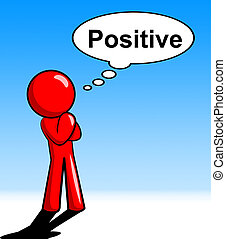 Thinking Positive Shows All Right And O.K. - Thinking...