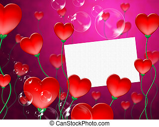 Heart Message Means Valentine Day And Correspond - Heart...