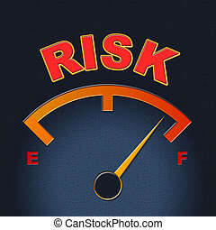 Risk Gauge Shows Display Caution And Failure - Risk Gauge...