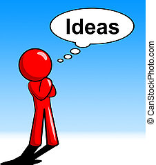 Ideas Character Represents Think About It And Innovations -...