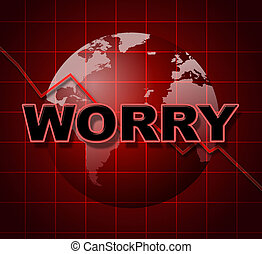 Worry Graph Shows Uneasiness Data And Diagram - Worry Graph...