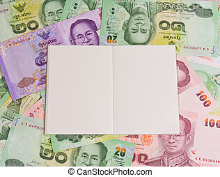 blank notepad on variety thai bath background for bussiness...