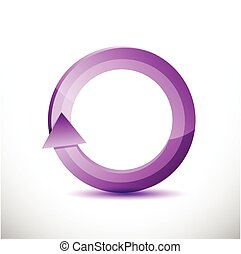 purple rotating cycle illustration design over a white...
