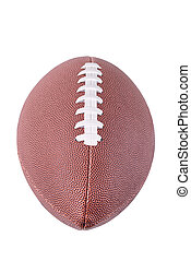 American football ball, isolated on white background