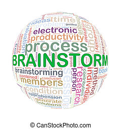 Wordcloud word tags ball of brainstorm