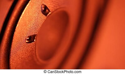 Woofer - A Close up of an Audio?Woofer