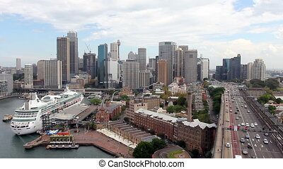 Sydney Harbour Skyline - Cityscape view of Sydney Harbour...