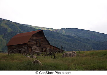 Barn Near Steamboat Springs, Colorado - A barn in the...