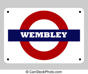 Wembley stadium sign - Wembley football or soccer stadium...
