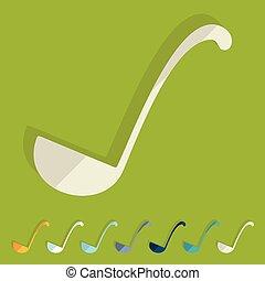 Flat design: ladle