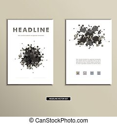 Vector cover book with colorful abstract spots