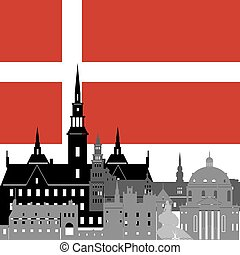 Denmark - State flags and architecture of the country....