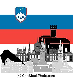 Slovenia - State flags and architecture of the country....