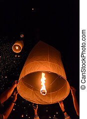 Sky lanterns festival - Floating lanterns ceremony or...