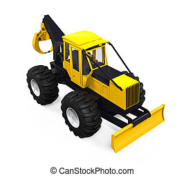 Grapple Skidder Isolated - Grapple Skidder isolated on white...