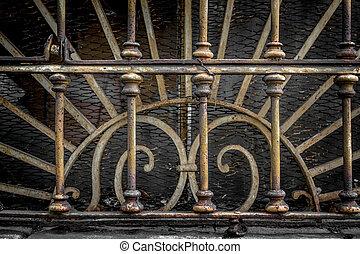 Enrejados, oxidado