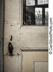 Knob - Details of an old Italian door.