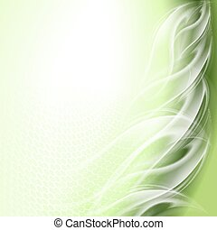 Abstract background green arc
