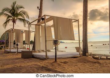 Cabana Bed On The Beach