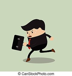Businessman in a rush hour, VECTOR, EPS10