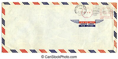 Airmail letter with american stamp - Old airmail letter with...