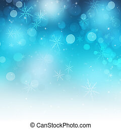 Shiny Festive Snowflakes and Sparkle Christmas Background -...