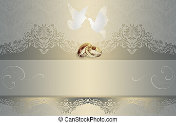 Wedding invitation. - Template of wedding invitation card...