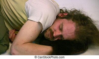 sleep man