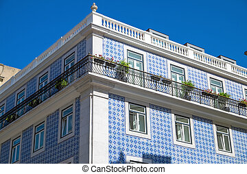Typical historic building in Lisbon - A typical historic...