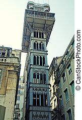 Lisbon elevador de Santa Justa, Baixa Portugal - Famous...