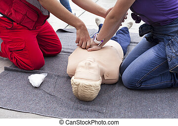 First aid training - First aid exercise