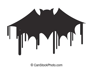Halloween Bat Shape Painting - Spooky Horrible Halloween...