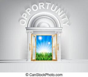 Door to opportunity concept - Opportunity door concept. A...