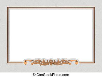 vintage copper frame