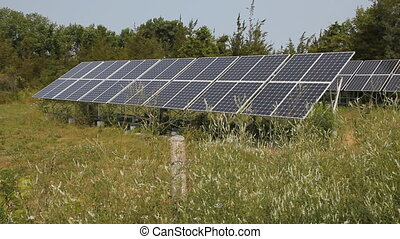 Solar arrays in rural area. Prince Edward County, Ontario,...
