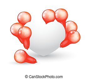 Balloons with Heart Banner