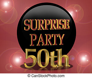 50th Birthday Surprise party Invitation - Card for surprise...