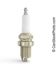 Spark plug for the car on a white background