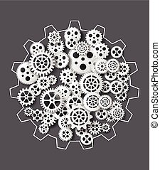 gearwheel mechanism background Vector illustration - Vector...