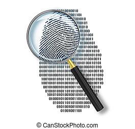 binario, hecho, printlike, encima, vidrio, forma, código,...